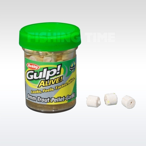 Berkley Gulp! Alive Trout Pellet Garlic - White