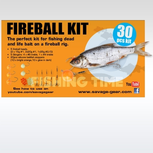 Savage Gear Fireball Pro Pack Kit 30 darabos fireball szett