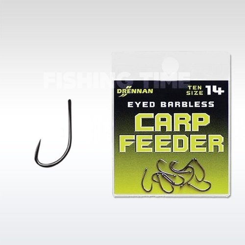 Drennan Barbless Eyed Carp Feeder horog