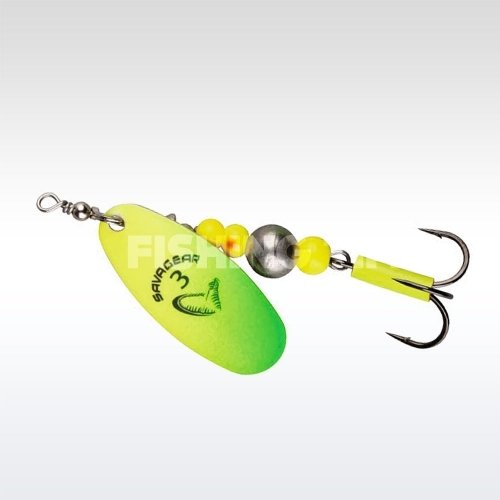 Savage Gear Caviar Spinner #4 07-Yellow / Chartreuse