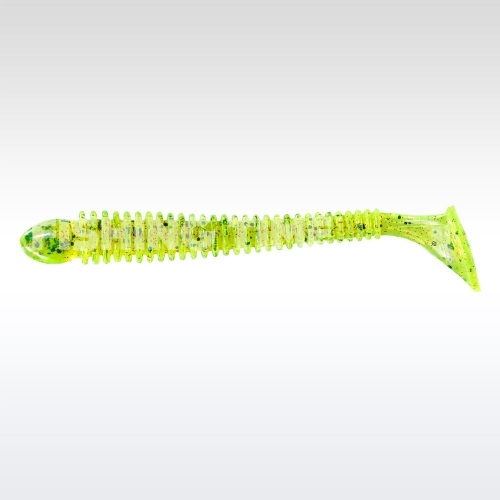Berkley Flex Beat Shad Chartreuse Pepper Red