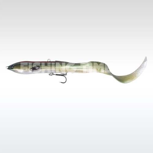 Savage Gear 3D Hard Eel Tail Bait 17 S 10-Green Silver