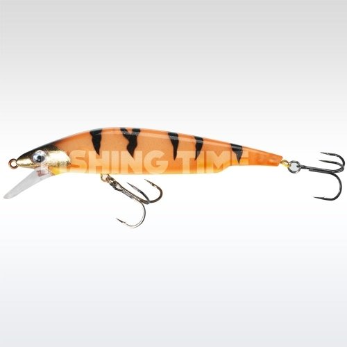 Sebile Bull Minnow 127 FL Orange Fleeing Prey
