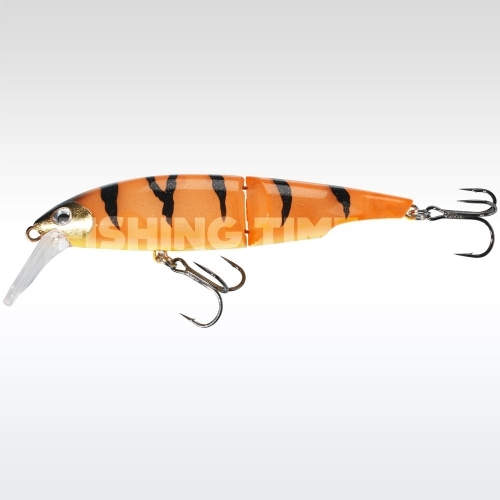 Sebile Swingtail Minnow 127 FL Orange Fleeing Prey