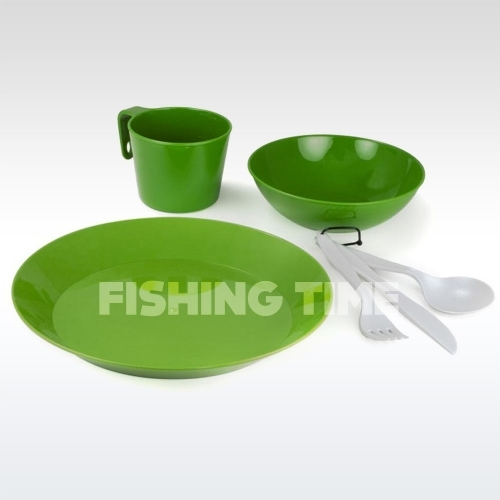 GSI Outdoors Cascadian 1 Person Table Set green edénykészlet