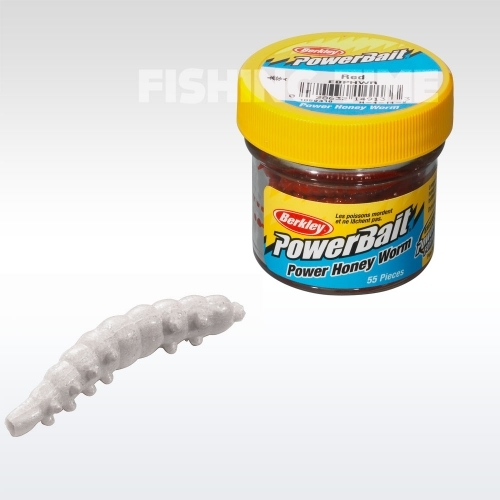 Berkley Powerbait Honey Worms lárvaimitáció White
