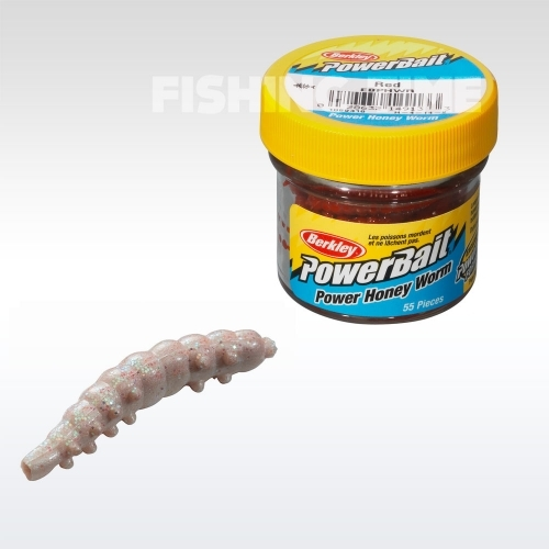 Berkley Powerbait Honey Worms lárvaimitáció WhiteScales