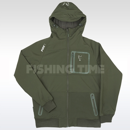 Fox Coll Green & Silver Shell Hoodie