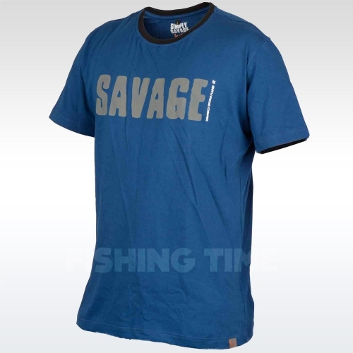 Savage Gear Simply Savage Tee Blue póló