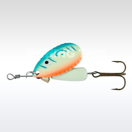 Abu Garcia Droppen 8g körforgó villantó UV Blue/Orange