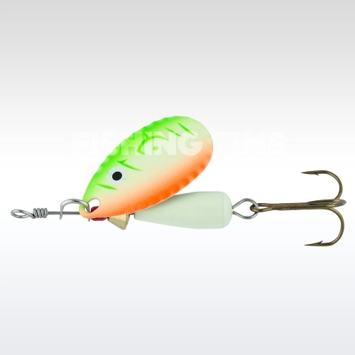 Abu Garcia Droppen 8g körforgó villantó UV Orange/Green