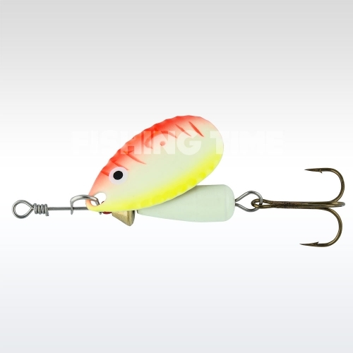 Abu Garcia Droppen 8g körforgó villantó UV Yellow/Orange
