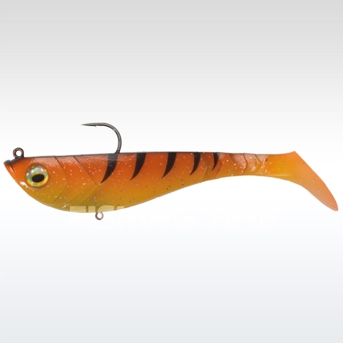 Berkley Powerbait Pulse Shad Pre-Rigged 14cm Orange Black