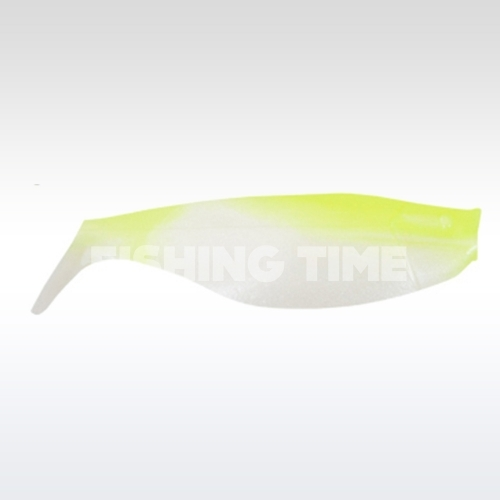 Manns Shad 8 Pearl/Chartreuse