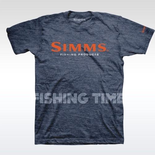 Simms Simms Logo Navy Heather póló