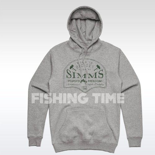 Simms Big Sky Hoodie Grey Heather pulóver