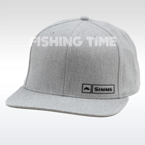 Simms Trout Logo Lockup Cap Heather Grey