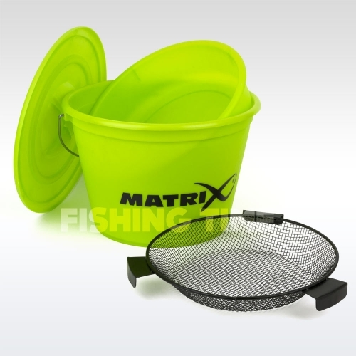 Matrix Lime Bucket Set Inc. Tray and Riddle Fedeles Vödör Tállal és Törőszitával